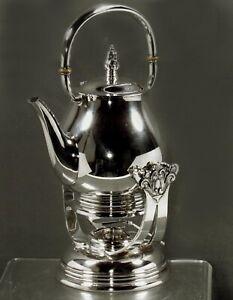 International Sterling Tea Kettle & Stand               Royal Danish