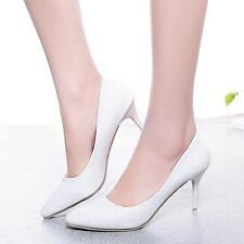 Zapatos de Novia Tacón Blanco Marfil 8CM Boda Tacones Altos Mujer