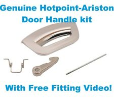 HOTPOINT-ARISTON WMG 923BX IT.C Genuine Door Handle Kit Silver Chrome Futura