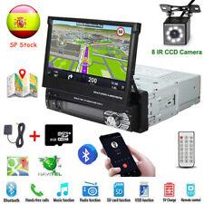 1 DIN 7'' Pantalla Táctil GPS Navi Radio de coche MP5 Jugador Bluetooth + Cámara