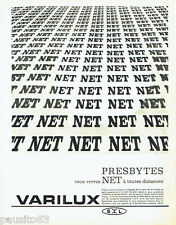PUBLICITE ADVERTISING 056  1962   les verres de lunettes Varilux NET