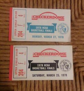 Pair of 1978 NCAA Basketball Finals Ticket Stub Kentucky Vs Duke in St Loius