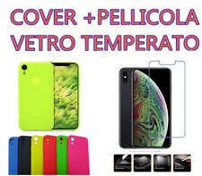 COVER CUSTODIA SILICONE per APPLE iPhone X XS XS MAX XR + PELLICOLA VETRO