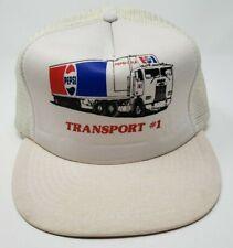 Vintage Pepsi-Cola San Sun Transport #1 Mesh Trucker Snapback Hat