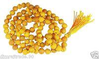 Haldi (Turmeric) mala 100% Natural & Original 108+1 beads  Unisex Wearing Mantra