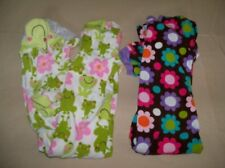 Lot of 2 Girls Size 4 CARTERS Fleece Footed Pajamas