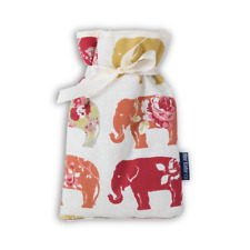 Padded Cotton Cover Miniature Nelly Elephants 500ml Handmade Hot Water Bottle