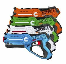 Kids Laser Tag Guns Blasters 4 Pack Set Multiplayer Toy Gun Game Lazer Gift New