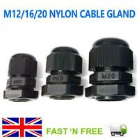 IP68 NYLON CABLE GLAND M12/16/20 12MM 16MM 20MM CCTV IP POE ELECTRICITY JUNCTION