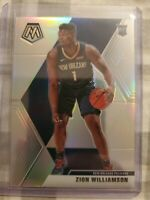 2019-2020 Panini Mosaic Zion Williamson Silver Prizm Rookie Card No. 209 In Hand