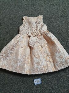 Baby Girls Age 18-24 Months Short Sleeve Dress From Laura Ashley (B755)