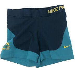 "Women's Nike Pro 3"" Shorts green teal AR6775-304 size medium M"
