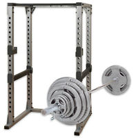 GPR378 Power Rack 300 Lb Steel Grip Olympic Weight Set Combo Body-Solid Home Gym