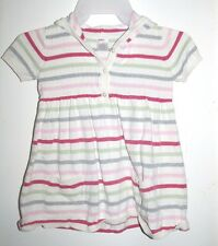 Gymboree Classroom Kitty Gray White Pink Red Striped Sweater Hoodie Dress 6