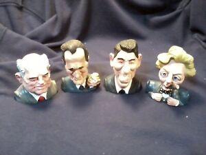 Spitting Image Toy Margaret Thatcher, Ronald Reagan, George Bush, Gorbachov 1989