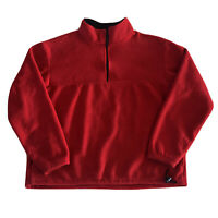J. Crew Sport Vintage 1/4 Zip Fleece Pullover Jacket in Red Men's Size L.