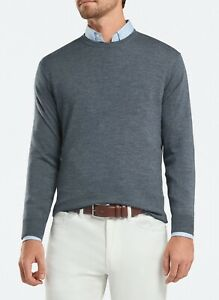 Peter Millar Size: XXLARGE XXL Crown Wool & Silk Sweater Color: Charcoal Grey