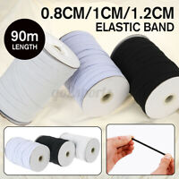 90m Flat Elastic Band 3mm 5mm Rubber Strap Waistband Cloth Sewing Accessory
