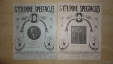 LOT REVUE ST ETIENNE SPECTACLES 1922 CINEMA MUSIC HALL DANCING THEATRE CONCERT