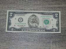 The Santa Claus Dollar Bill Real U.S. $2 Dollar Bill Money Santa Dollar New $2