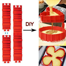 4x Silicone Cake Snakes Mold Magic Bake Create Chape Nonstick Tray Baking Moulds