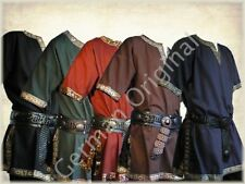 German Medieval Tunic Brocade Braided Renaissance SCA Larp Aristocrat Chevalier