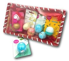 EOS Lip Balm Gift Set in Wrapped Gift Basket 7 different Flavours Pamper Hamper