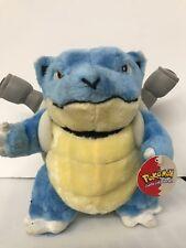 """Vintage Pokemon BLASTOISE Pokemon Character Plush Stuffed 12"""" Toy 1999 W/Tag"""