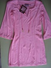 JUCIY COUTURE SWIMSUIT COVER-UP DRESS TERRY CLOTH PINK P (XS) 138.00 NEW