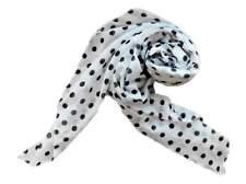 NUOVA SCIARPA 170x70cm TRAPEZIO Bianco-Blu Modello Punti Sciarpa da Donna Foulard