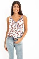 New Womens Ladies Summer Printed Paisley Casual Sleeveless Strappy Cami Vest Top