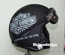 Casco Harley Davidson stampa logo Vintage personalizzato in pelle s m l xl