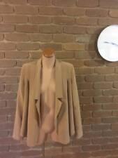 Witchery Soft Silk Tan Nude Beige Drape Blazer Jacket Coat XS S 6 8 10
