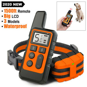 Dog Training Collar Rechargeable Remote Control Electric Pet Shock Vibration