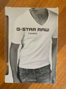 G STAR RAW V NECK T/SHIRT SIZE XXL BLACK 2 PACK