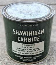 Vintage Shawinigan Carbide 2 Pound Metal Can, Mining Collectible