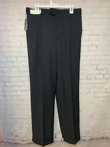 Black Stafford Mens Classic Fit Travel Trousers Dress Pants 34x32 A8 new w/tags