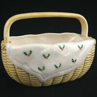 VTG Ceramic Country Basket by Sigma The Tastesetter Andrea West Made in Japan