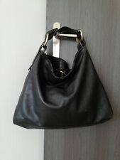 Sac Gucci horsebit grand modèle Mors Cuir Noir Hobo Sac Bandoulière Bag Large