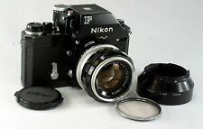 Nikon F, #7027133, black, FTn Finder, Nikkor-S Auto 1.4/50 mm, #1185216