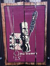 HOLZ Tiki Bar Südsee Maori 60x40cm Rockabilly handgemalt Holz Schild Bild