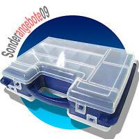 SORTIERKASTEN blau mit Griff 32 Fächer Kleinteilebox Kleinteilemagazin Sammelbox