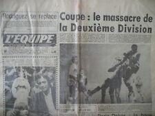 FOOTBALL COUPE DE FRANCE RALLYE PARIS DAKAR RUGBY BASTIAT JOURNAL L'EQUIPE 1978