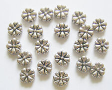 20 Metal Antique Silver Colour Flower Spacer Beads - 10mm