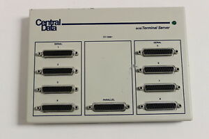CENTAL DATA ST-1008+ SCSI TERMINAL SEVER WITH DOMESTIC US AC ADAPTER ST1008+