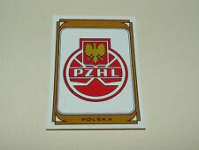 N°41 BADGE POLOGNE POLSKA PZHL PANINI HOCKEY 79 ICE GLACE 1979 CHAMPIONNAT MONDE