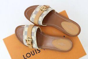 Louis Vuitton Damier Buckle Sandals Size EU 38.5 UK 5.5