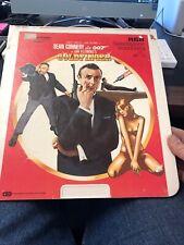 RCA Video Laser Disc James Bond Goldfinger Sean Connery Selectavision Videodisc
