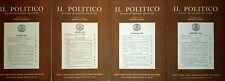 IL POLITICO RIVISTA DI SCIENZE POLITICHE DIRETTA DA BRUNO LEONI ANNO XXX 1965 4V