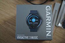 Garmin Vivoactive 3 Music Fitness Smartwatch - Black + Grey Strap